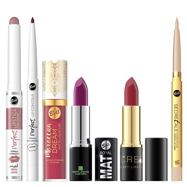Productos de labios Bell Cosmetics